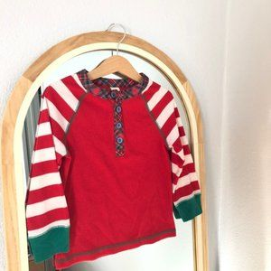 Matilda Jane red striped ribbed shirt